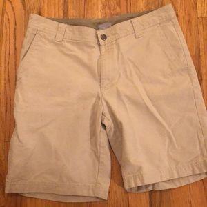 Columbia Mens sz 34 w x 10 L shorts side zips look